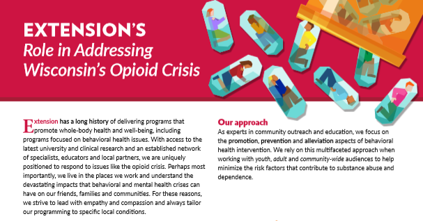 Extension's role in addressing Wisconsin's opiod crisis