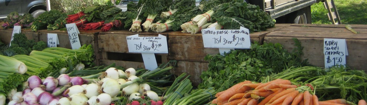 Variety of vegetables at a WI Farmers Market