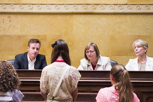 Wisconsin 4H members testifying before legislators